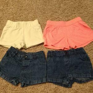 4 pair toddler shorts- 2T
